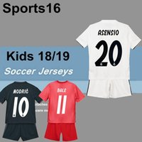 Wholesale kids kit Real Madrid Soccer Jersey youth boy Child VINICIUS JR Soccer shirt Modric KROOS ISCO ASENSIO BALE Football