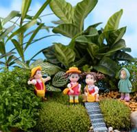 ingrosso figurina d'amore-Bambola Hayao Miyazaki Loving Girl Raincoat Xiaomei Dolls Micro Paesaggio Anime Cartoon Figurine Fairy Garden Miniatures 0 85qf gg