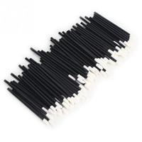 orijinal xbox kablosuz denetleyicisi toptan satış-50 Adet / takım Yumuşak Tek Kullanımlık Dudak Makyaj Aplikatör Fırça Değnek Ruj Fırçalar Pembe Siyah
