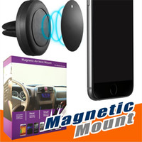 Wholesale car universal - Car Mount, Air Vent Magnetic Universal Car Mount Phone Holder for iPhone 6 6s, One Step Mounting ,Reinforced Magnet, Easier Safer Driving