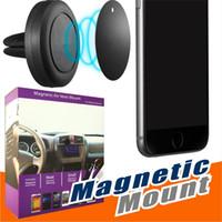 car phone holder al por mayor-Soporte para coche, soporte magnético universal para teléfono con soporte de ventilación para iPhone 6 / 6s, montaje en un paso, imán reforzado, conducción más segura