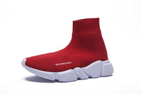 Wholesale 2019 New Casual Shoes Speed Trainer Luxury Shoes Training Sock Casual Shoes breathable Sports men women Sneakers Shoes