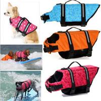 chaleco de seguridad al por mayor-Ortilerri Chaleco Salvavidas Ropa de Seguridad Ropa Para Mascotas Perrito Chaleco Salvavidas Ropa para Perros Ropa de Baño Natación Vacaciones en la Playa
