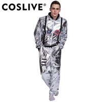 pop-tv großhandel-Coslive Astronaut Alien Pop Tänzer Stage Spaceman Kostüm Outfits Kleidung Kostüme für Karneval Party Halloween Cosplay