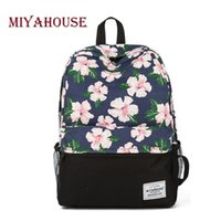 Wholesale Bookbags For School - Miyahouse Unique Printing Backpack Women Floral Bookbags Canvas Backpack School Bag For Girls Rucksack Female Travel