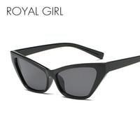 f673bc99adc7 ROYAL GIRL Vintage Cat Eye Sunglasses Women 2018 Brand Designer Fashion Sun  Glasses Female Retro Black Red Eyewear UV400 SS530