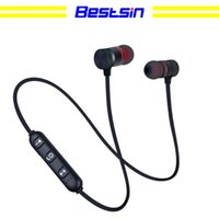 Wholesale headphones for cell phones samsung online - Bestsin Wireless Bluetooth Headphones M9 Magnet Wireless Earphone Auriculares Bluetooth Headset For Cell phone Iphone X xiaomi Sport Music