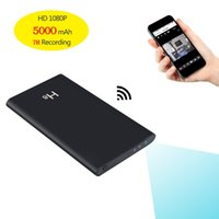 Wholesale spy mobiles - H8 WIFI Power Bank spy hidden Camera HD 1080P P2P IP Camera Mobile Power Bank Pinhole camera Motion Detection Battery Wireless IP Cameras