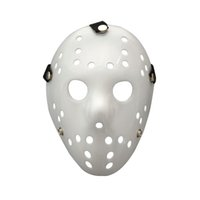 ingrosso proiettori di film horror-Maschera di Halloween Jason Voorhees Venerdì 13th Horror Movie Hockey maschera bianca Scary Masquerade Costume Decor Halloween puntelli FFA778