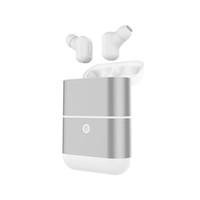 ingrosso il più piccolo bluetooth mobile-Doppio orecchio stereo Bluetooth piccolo invisibile Mini auricolare impermeabile e resistente di grandi dimensioni senza fili della batteria capacità di carica per i telefoni cellulari