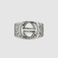 ingrosso anello di personalità-Vintage Tiger Head Ring Men Argento 925 Personalità prepotente creativo singolo afflusso studente dito medio uomini nuovo zodiaco - Spot