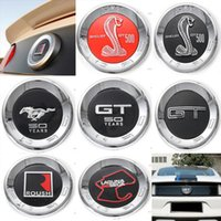 Wholesale ford brand cars - Mustang 2015 16 17 3D Newest Car Tail Sticker Rear Brand Badge Emblem 50 Years Shelby GT500 Roush Laguna Seca