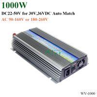 inversor de onda sinusoidal de 24v al por mayor-1000W Grid Tie Inverter, 20-50V DC a AC 220 / 230V Inversor de onda sinusoidal pura para 1000-1200W 24V, 30V, 36V módulo PV o turbina eólica