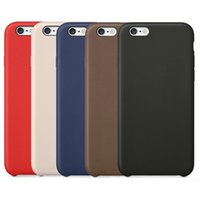 Wholesale Iphone 5s Shock Cases - Original Official Leather Case Business Retro Style Business PU Shock Microfiber Hard Cushion Cover Case for Apple iPhone X 8 Plus 7 6 6S 5S