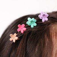 40 pcs Fashion Hair Accessories Hairpins Small Flowers Gripper Korean Children 4 Claws Plastic Hair Clip Clamp