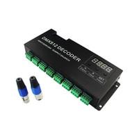 receiver decoder UK - 1set DC5V-24V wireless transmitters receiver WS2811 2801 LPD6803 RGB LED DMX512 1990 decoder 24Channel 3A 1728W  768W for LED Light