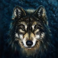 Wholesale Contemporary Wall Decorations - Modern Gift Contemporary Abstract Home Art wall decoration Wolf Animal oil painting picture Printed on Canvas for Living Room Bedroom Decor