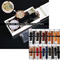relógios de vestido branco venda por atacado-Melhor Versão 36mm 40mm Branco Preto Rosto Pulseira De Couro Homens Assista Vestido Relógio de Couro Caixa de Relógio é Opcional Drop Shipping