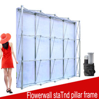 Wholesale wedding stands for flowers - Aluminum Flower Wall Folding Stand Frame for Wedding Backdrops Straight Banner Exhibition Display Stand Trade Advertising Show