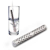 alkalischer wasser-nano-stick großhandel-200 Stücke Alkalische Wasser Stick PH Alkalizer Ionisator Wasserstoff Mineralien Luftreiniger Filter Nano Energie Stick Ionic Water Stick