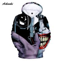o камера оптовых-Aikooki Suicide Joker 3D Hoodies Sweatshirts Men  Tracksuits Unisex Fashion Pullovers Hooded Sweatshirts With Camera Tops