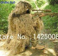 свободная камуфляжная одежда оптовых-Free shipping desert Bionic Ghillie Suits camouflage grass hay style hunting Recon yowie Paintball, clothing
