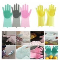 Wholesale clean beds for sale - Magic Silicone Dish Washing Gloves Eco Friendly Scrubber Cleaning For Multipurpose Kitchen Bed Bathroom Hair Care MMA834 pair