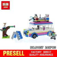 Wholesale block toys vehicles online - Lepin Girl Friends Series The Mission Vehicle Set Building Blocks Bricks Toys for kids New Birthday Gifts