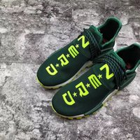 a271c83b3 Authentic 2018 Pharrell Williams PW HU Trail NMD NERD EE6297 Running Shoes  Men Women Top Quality Sprots Sneakers Green With Original Box