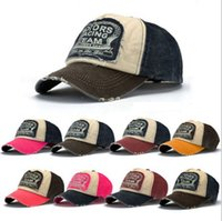 Wholesale good gifts for girls online - Fashion motors racing cap with washed cotton cap outdoor baseball cap with patche adjustable good gift for youth or lover