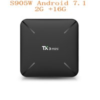 Wholesale android tv box play store for sale - New TX3 Mini Android TV BOX GB16GB Amlogic S905W Quad Core GHz WiFi Google Play Store Netflix Media Player Smart TV Box