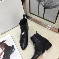 botas de penas rosa venda por atacado-2018 novas botas high-end, high-end de exibição de luxo, moda artefato de moda com alta 5.5CM Preto Tamanho 35-40 + caixa