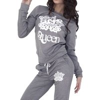 Wholesale warm tracksuits for women online – oversize Vertvie Printed Sportsuits For Women Sweater Sport Pants Piece Running Sets Warm Winter Tracksuits Outdoor Clothing Casual