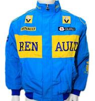 Wholesale renault man for sale - F1 automobile race motorcycle driver windproof Renault zipper jacket car logo motor jacket