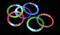 glühender kristall führte großhandel-2017 Acryl Glitter Glow Flash Licht Sticks LED Kristall Farbverlauf Hand Ring Armband Armreif Kreativität Tanz Partei Liefert Spielzeug-Y