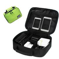 carregador do saco usb venda por atacado-Acessórios Digitais portáteis Dispositivos Gadget Organizador USB Cabo Carregador Tote Bolsa de Armazenamento digital Saco de pacote de linha de dados de Viagem