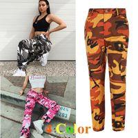 Wholesale Female Military - Fashion Women Casual Pants Jogger Pants Military Camouflage Women Pants Slim Fit Female
