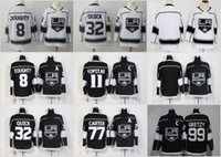 Wholesale blue draws - 2018 Los Angeles Kings Hockey Jerseys 11 Anze Kopitar 32 Jonathan Quick 8 Drew Doughty 77 Jeff Carter 99 Wayne Gretzky Stitched Black Jersey