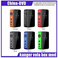 Wholesale performance tank - Authentic kanger vola 100W TC box mod 2000mah Built-in battery Battery High Performance VW TC Modes for RDA RBA RDTA TANK atomizer
