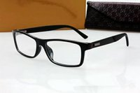 Wholesale Super 55 - NEW High-quality GG1076 glasses frame unisex plank 55-16 super-light for prescription glasses with original packing wholesale freeshipping