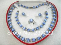 Wholesale ruby diamond price resale online - price women s jewelry sky blue opal white gold Earring Bracelet Necklace Ring