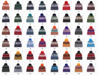 Wholesale New Beanies Football Beanies Sideline Cold Weather Sport Knit Hat Pom Pom Hats Hot Team Color Knits Mix Match Order All Caps