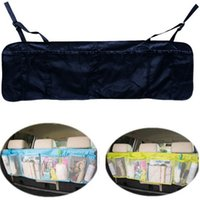 Wholesale rolling seat - Multifunction Sturdy Pockets High Capacity Vehicle Hanging Bags Practical Car Seat Back Oxford Grid Debris Storage Bag New Arrival 7 5yh Z