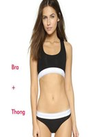 Wholesale Underwear Thongs - Brand designer sport Tracksuit for women Summer Sleeveless Suits for Women 2 Piece set Women short swimwear suit Vest + thong underwear