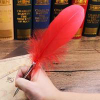 stylo plume de bureau achat en gros de-Stylo à bille plume élégant coloré Kawaii Stylos à bille Stylo à bille roulante Papeterie pour étudiants Cadeau Fournitures scolaires de bureau c688
