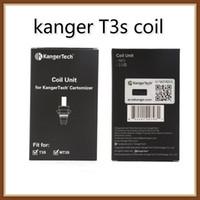bobina de t3s 1.8 venda por atacado-100% Original Kangertech MT3 T3S Coil Unidade Kanger CC Limpar Cartomizer Cabeça Bobinas de Substituição 1.5 1.8 2.2 2.5 ohm