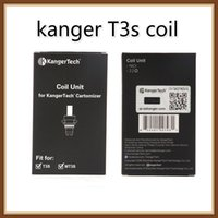 t3s 1.8 bobina al por mayor-Unidad de bobina Kangertech MT3 T3S 100% original Cabeza de bobinas de repuesto de Kanger CC Clear Cartomizer 1.5 1.8 2.2 2.5 ohm