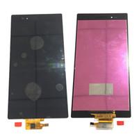 digitalizador xperia z touch al por mayor-NUEVO Pantalla LCD Digitalizador de Pantalla Táctil Para Sony Xperia Z Ultra XL39h C6833 C6806 Blanco Negro Con Vidrio Templado DHL logística