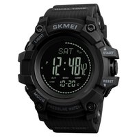 Wholesale Thermometer Dhl - SKMEI Brand Mens Sports Watches Hours Pedometer Calories Digital Watch Altimeter Barometer Compass Thermometer Weather Men Watch 1358 DHL