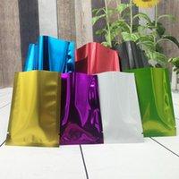 selos de alumínio venda por atacado-6 tamanhos PE Colorido Selo De Alumínio De Alumínio Mylar Foil bag Cheiro À Prova de Malote Do Armário Organizador Acessórios de Cozinha de Decoração Para Casa Artesanato Suprimentos